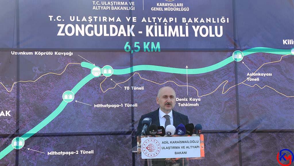 Ulaştırma ve Altyapı Bakanı Adil Karaismailoğlu Zonguldak 'ta