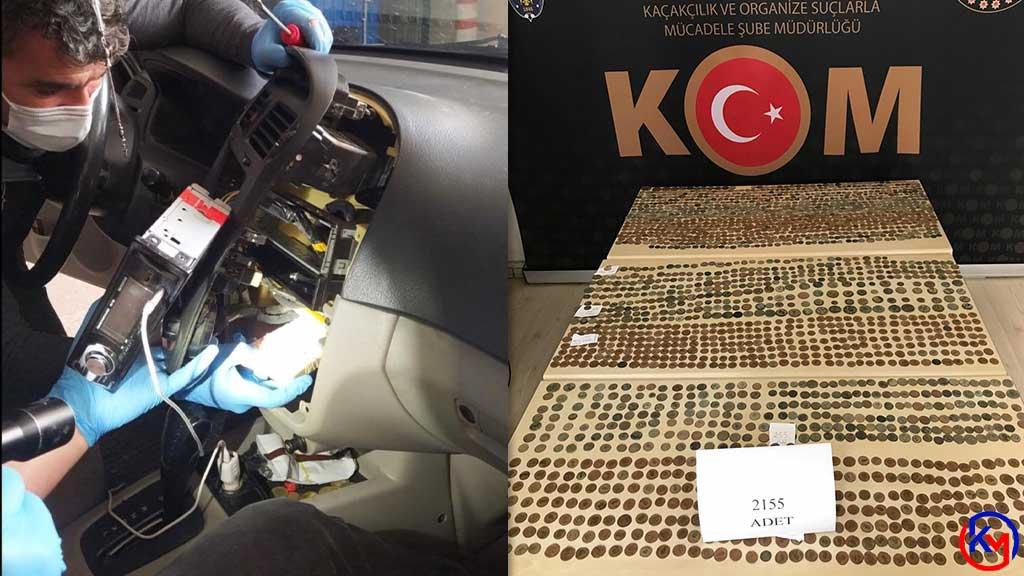 Yabancı Uyruklu İki Şahıs 2 Bin 155 Sikkeyi Kaçırırken Yakalandı