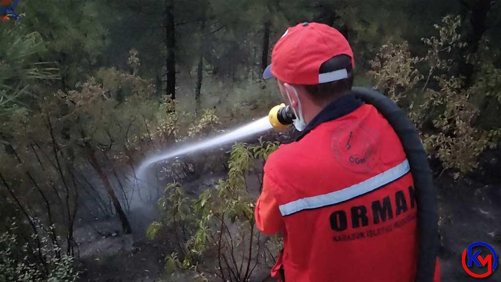 Karabük 'te Kent Ormanı 'nda Çıkan Yangın Büyümeden Söndürüldü